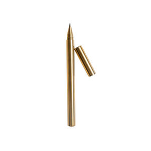 Picture of open cap brass pen