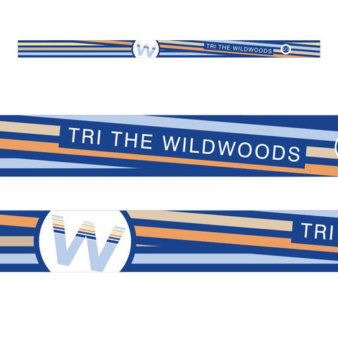 DelMoSports Wildwoods: 'Event Logo' Tech Headband - Blue / Stripes