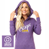 Escape the Cape 'Script' Unisex Lightweight Tri-Blend Hoody - Purple Rush