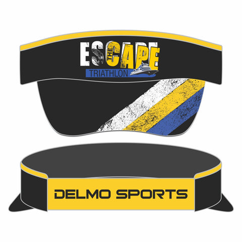 'Escape The Cape' Technical Visor with Elastic Band - Black, by Boco