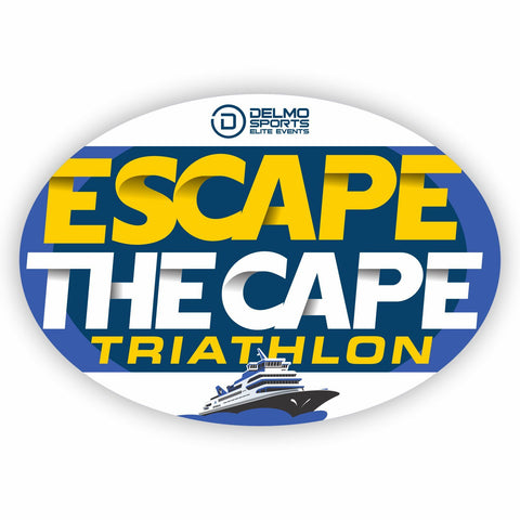 "'Escape The Cape' Oval Magnet - 5.9""x4.1"" - Blue"