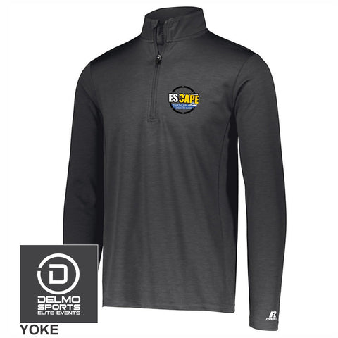 Escape the Cape 'Left Chest Embroidery' Men's Tech 1/4 Zip - Stealth Charcoal