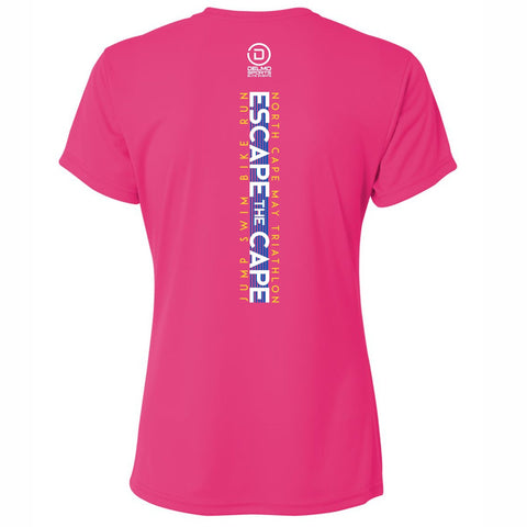Escape the Cape '2019 Course' Women's SS Tech Tee - Fuchsia