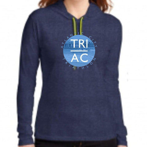 Women's Lightweight Fashion Hoody - Heather Blue