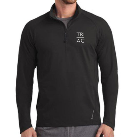 Men's Pullover Stretch 1/2 Zip - Blacktop