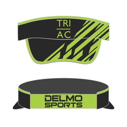 DelMoSports Atlantic City: 'Event Logo' Tech Visor - Black/Hi Viz Green - by Boco