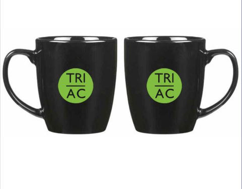 Atlantic City Tri 18 oz. Bistro Ceramic Mug - Black