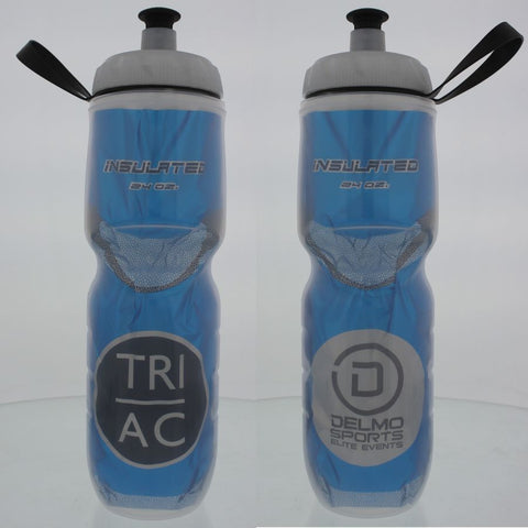 DelMoSports Atlantic City: 'Event Logo' 24 oz. Insulated Water Bottle - Blue - by Polar