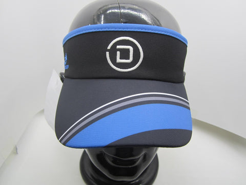 DelMoSports: 'Circle D' Tech Visor - Black / Stripes - by Headsweats