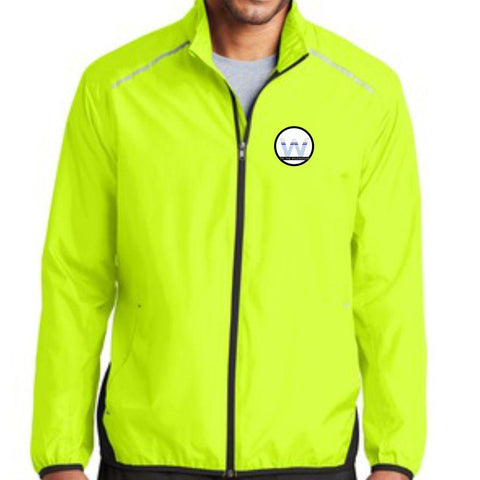 Tri the Wildwoods 'Left Chest Embroidery' Men's Lightweight Full Zip Reflective Jacket - Hi Viz