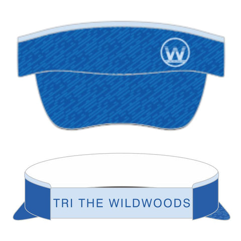 DelMoSports Wildwoods: 'Event Logo' Tech Visor - Blue - by Boco