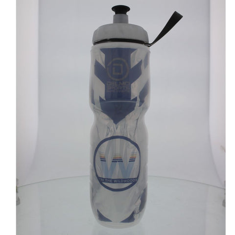 DelMoSports Wildwoods: 'Event Logo' 24 oz. Insulated Water Bottle - White - by Polar