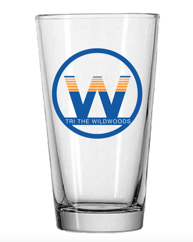 DelMoSports Wildwoods: 'Event Logo' Pint Glass - Clear