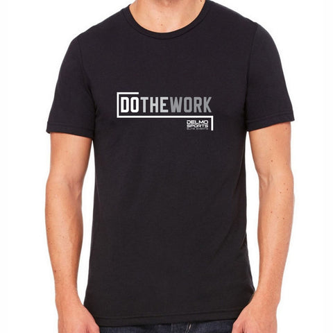 DelmoSports 'Do the Work' Men's SS Lifestyle Tee - Black by Tultex