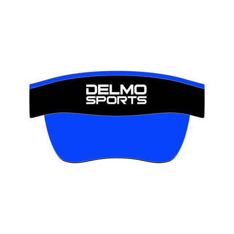 "DelMoSports: ""Two Color"" Visor - Black and Blue"