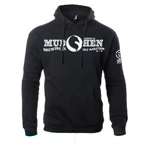 Mudhen Logo' Adult Fleece Hoody - Black Heather - by Ei-Lo