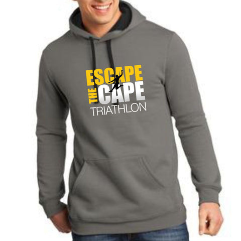 DelMoSports Escape the Cape Tri: 'Jumper' Adult Kangaroo Pocket Fleece Hoody - Grey - by District
