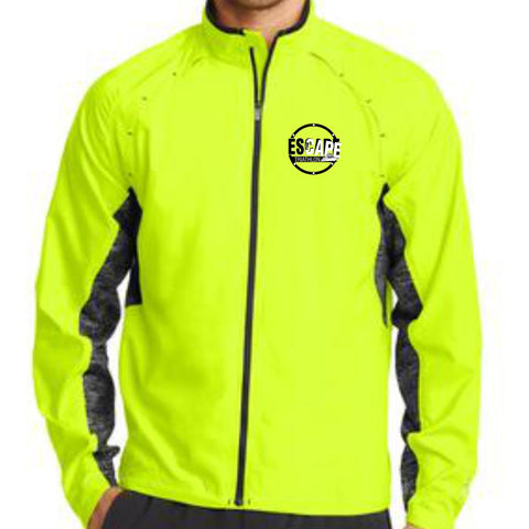 DelMoSports Escape the Cape Tri: 'ETC-EMB' Men's Water-Resistant Full Zip Reflective Jacket - Pace Yellow - by OGIO