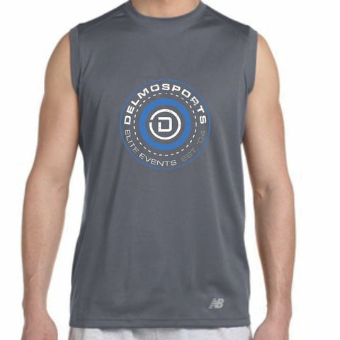 DelMoSports: 'Hub' Men's Sleeveless Tech Tank - Gravel - by New Balance