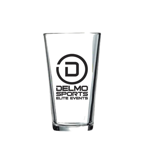 DelMoSports: 'Delmo Logo' Pint Glass - Clear