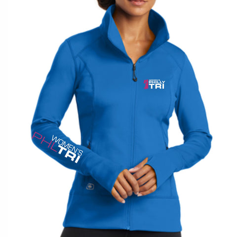 Women's Philadelphia Tri 'Left Chest Embroidery' Women's Tech Full Zip Jacket - Electric Blue - by Ogio