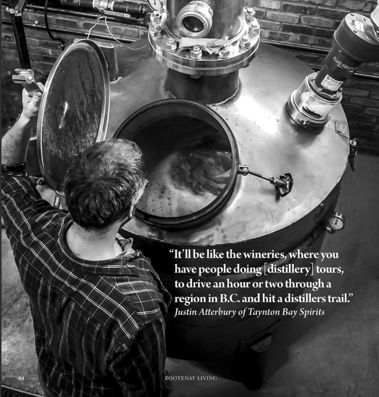 Taynton Bay Spirits Feature in Kootenay Living [Issue One]