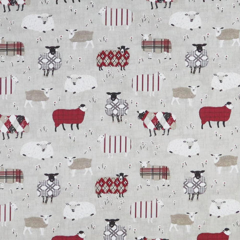 Baa Baa Peony Made To Measure Roman Blind -  - Ideal Textiles