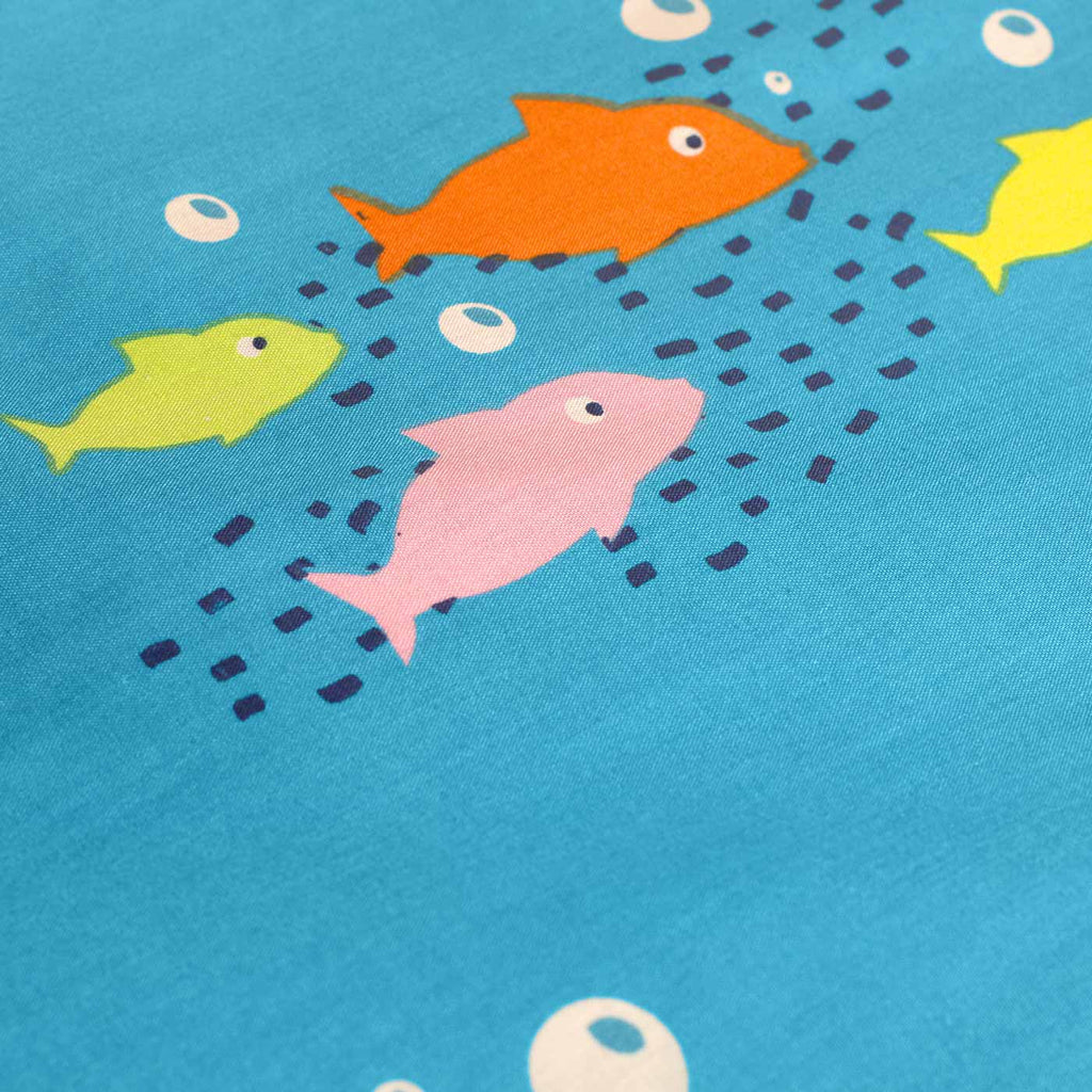 Sea Life Glow in the Dark Blue Kids Duvet Cover Set - Ideal Textiles