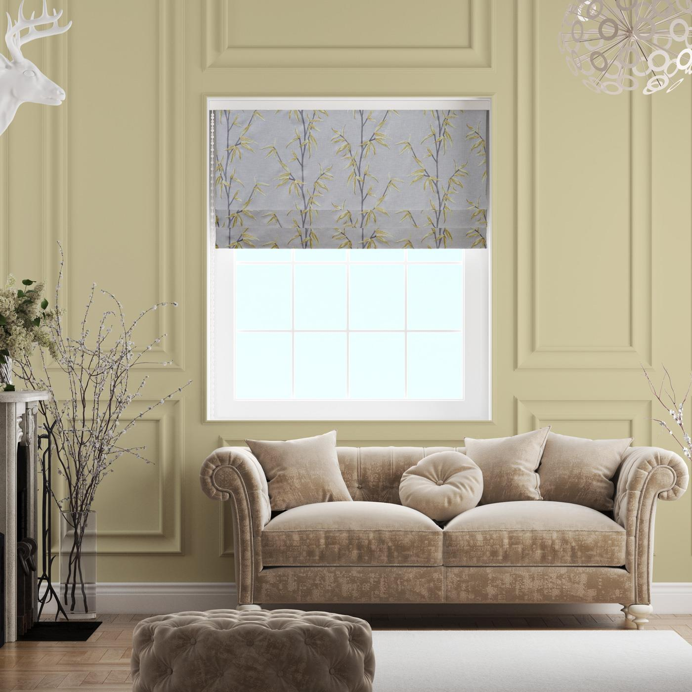 Sumi Saffron Made To Measure Roman Blind -  - Ideal Textiles