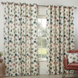 Camarillo Lined Eyelet Curtains Blush - Ideal Textiles