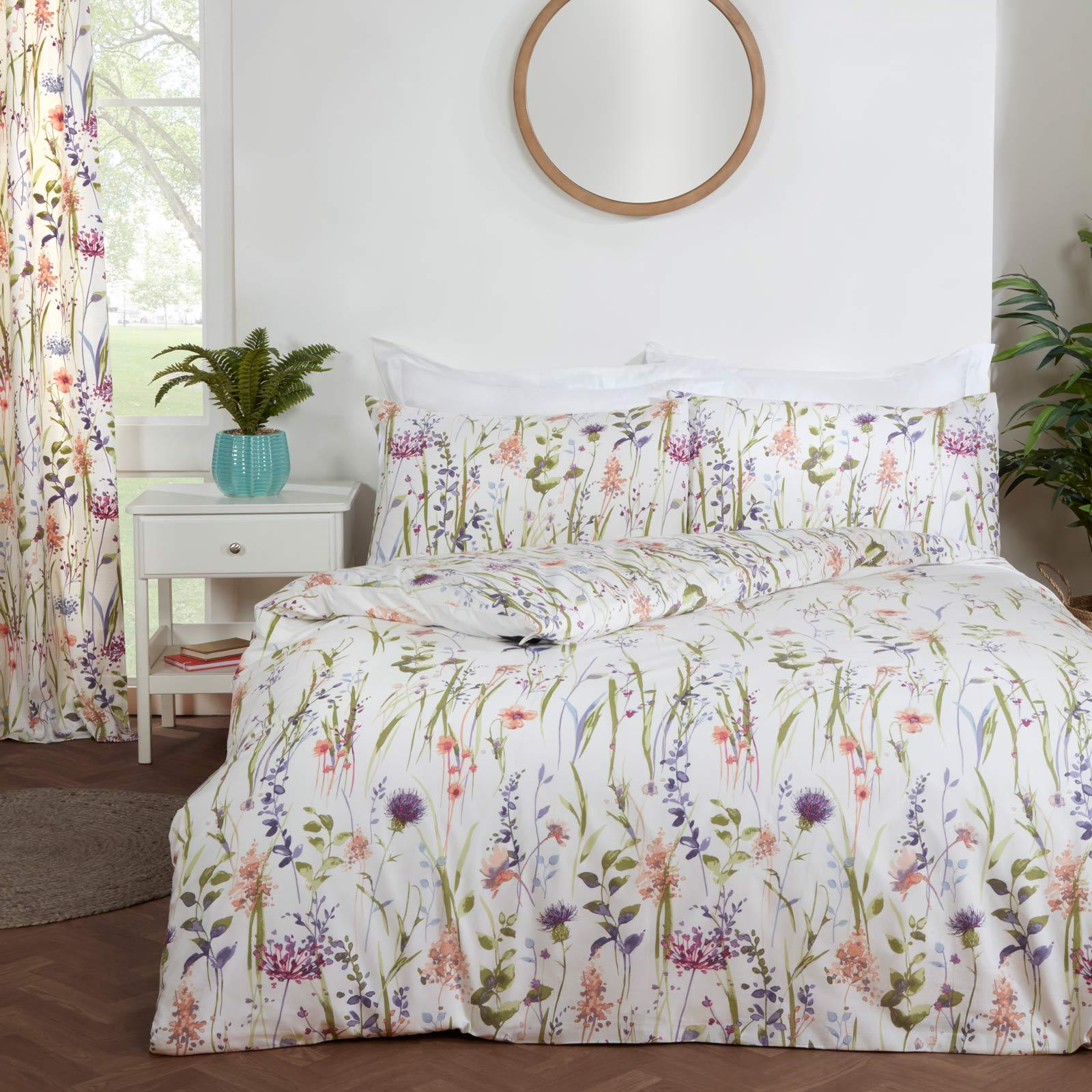 Hampshire Country Floral Multi Duvet Cover Set - Single - Ideal Textiles