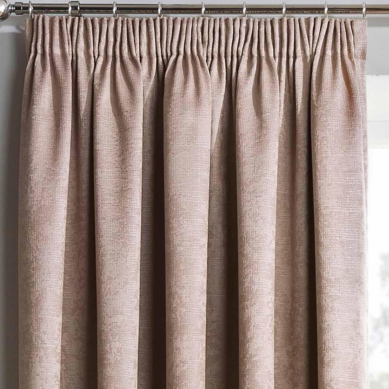 Matrix Block Out Thermal Tape Top Curtains Latte -  - Ideal Textiles