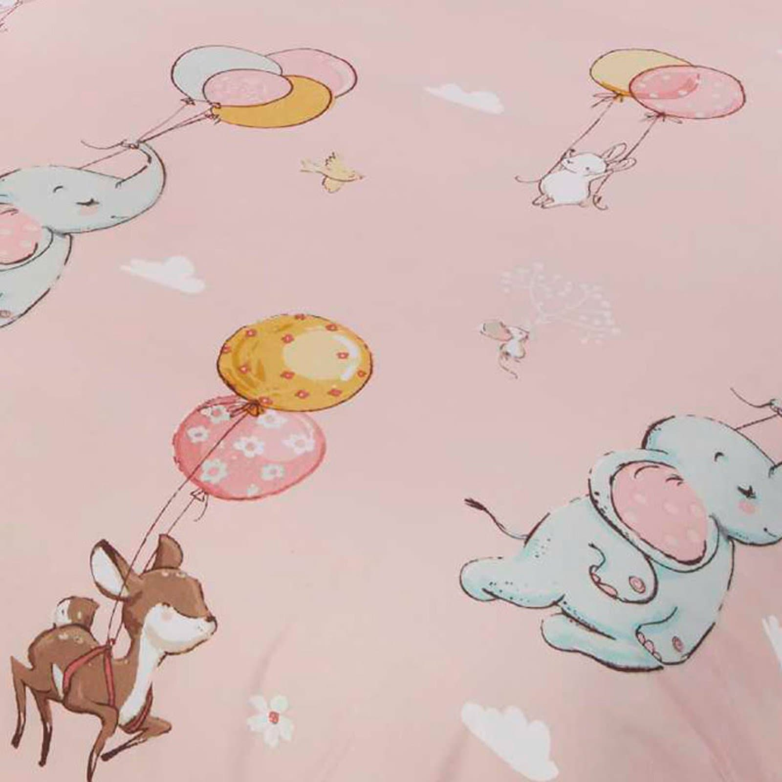 Float Away Frilly Pink Kids Duvet Cover Set -  - Ideal Textiles