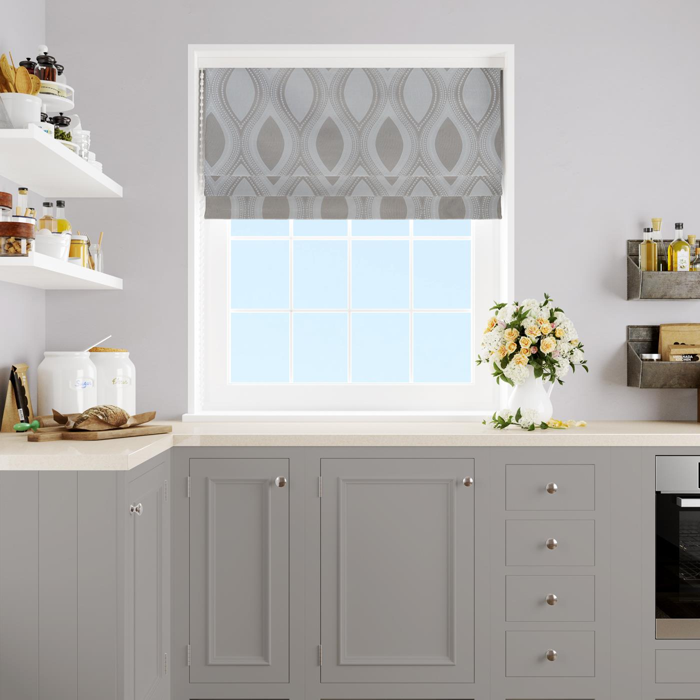 Quixley Natural Made To Measure Roman Blind -  - Ideal Textiles