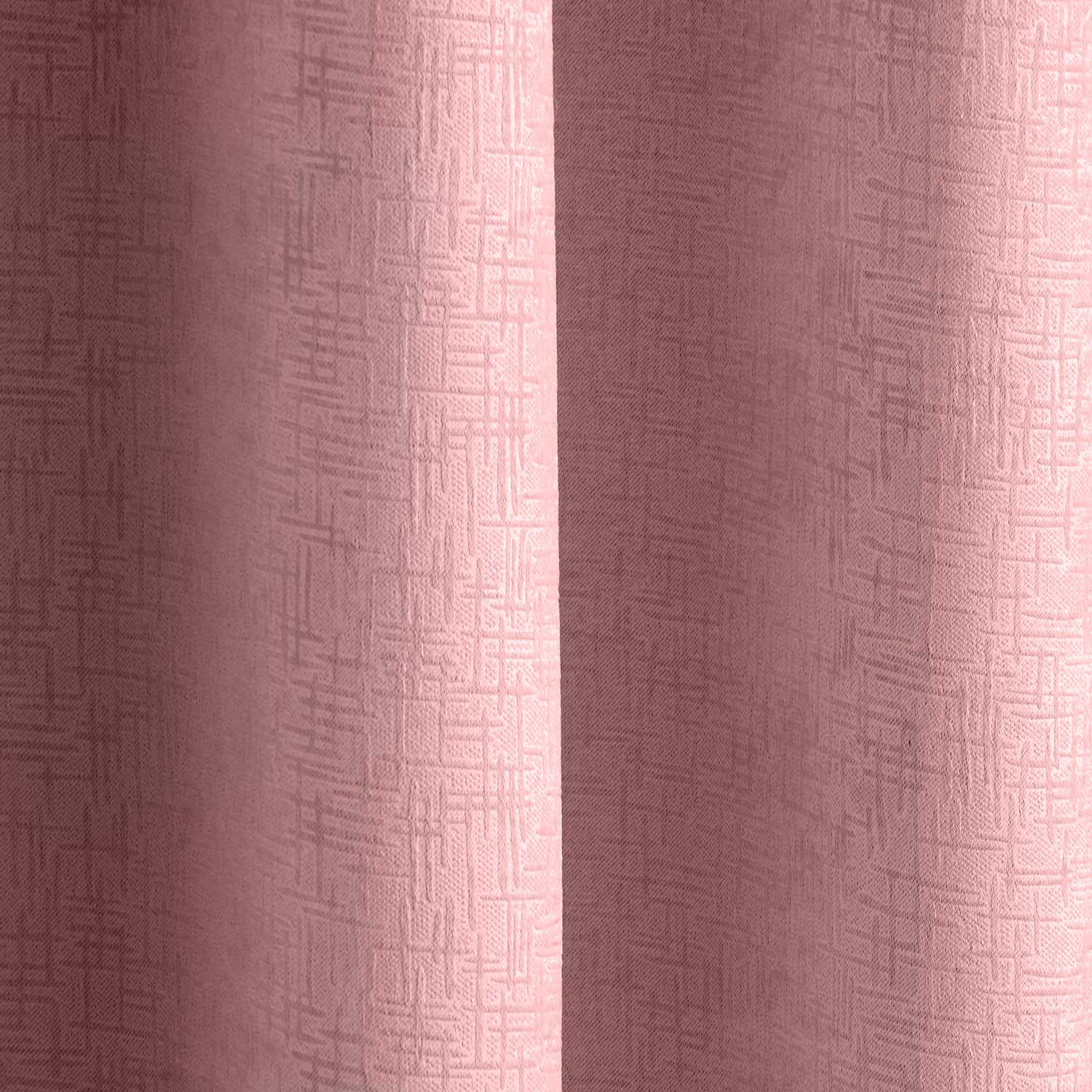 Vogue Textured Block-Out Thermal Eyelet Curtains Blush Pink -  - Ideal Textiles