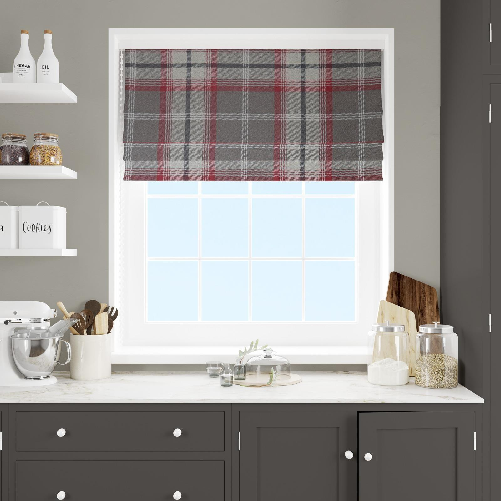 Hestia Rosso Made To Measure Roman Blind -  - Ideal Textiles