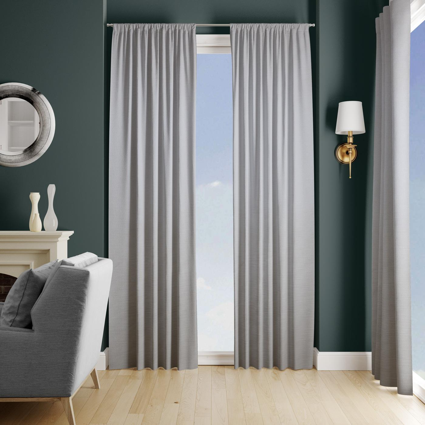 Lucida Grey Made To Measure Curtains -  - Ideal Textiles