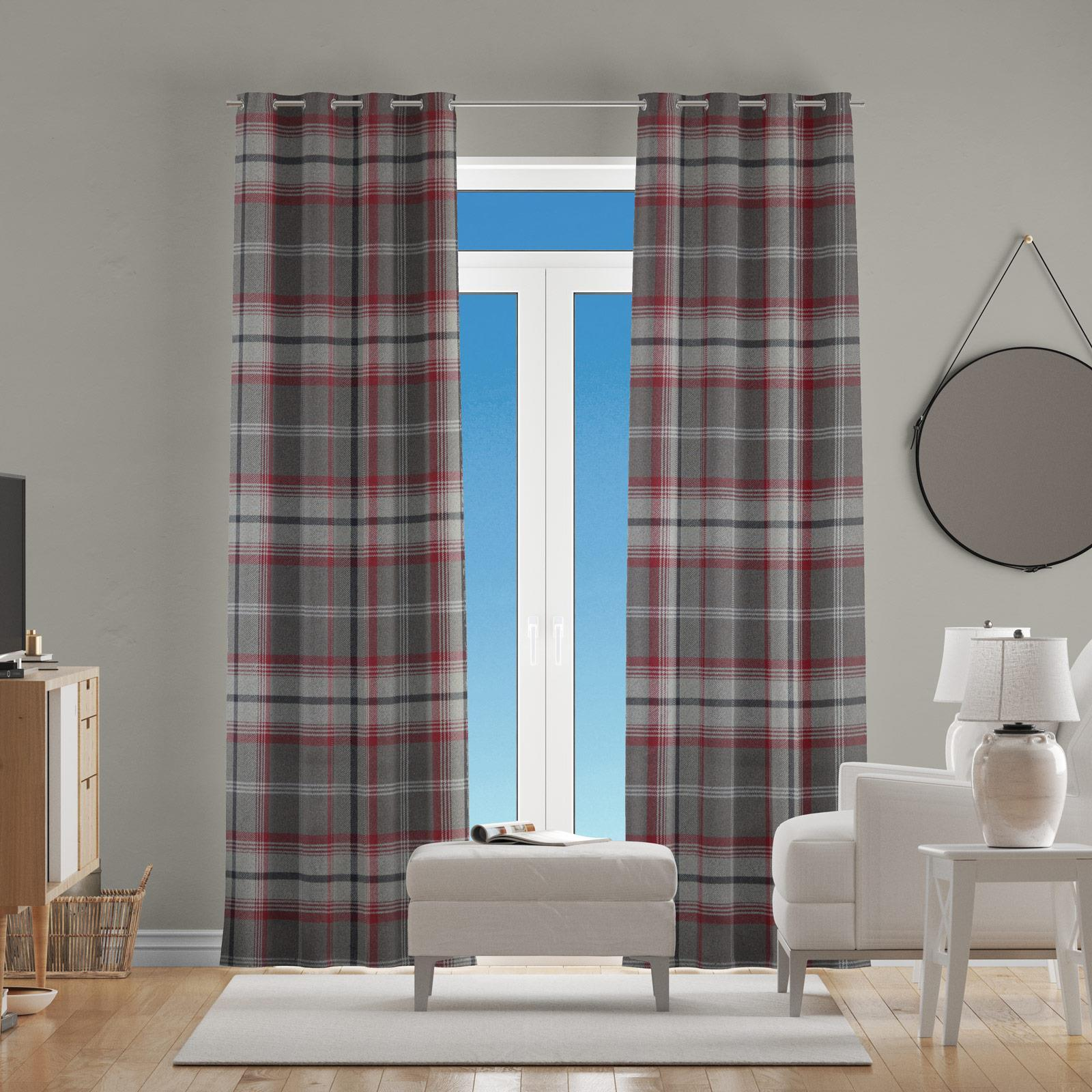 Hestia Rosso Made To Measure Curtains -  - Ideal Textiles