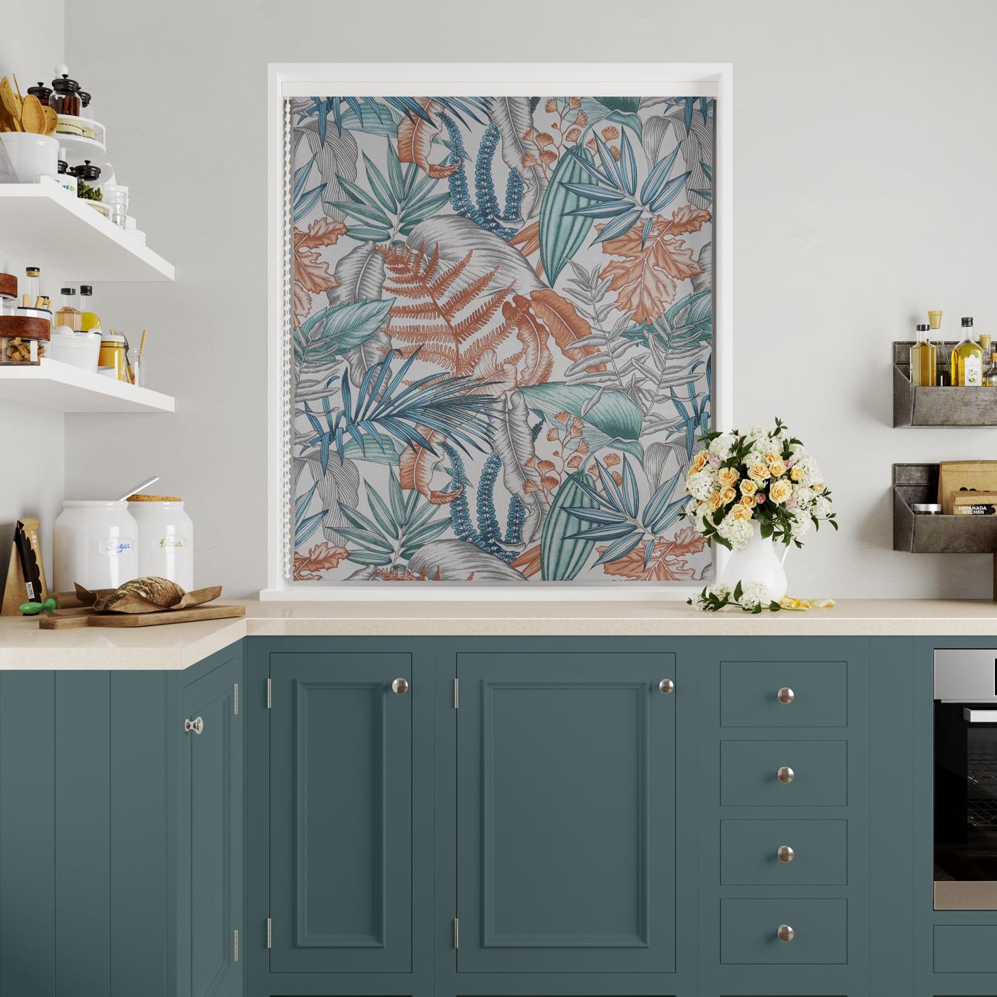 Maldives Lagoon Made To Measure Roman Blind -  - Ideal Textiles