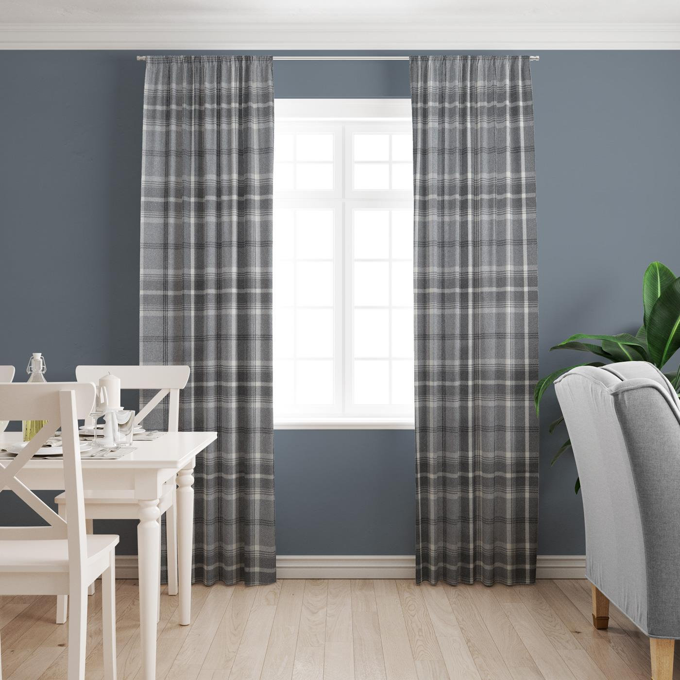 Hestia Dove Grey Made To Measure Curtains -  - Ideal Textiles