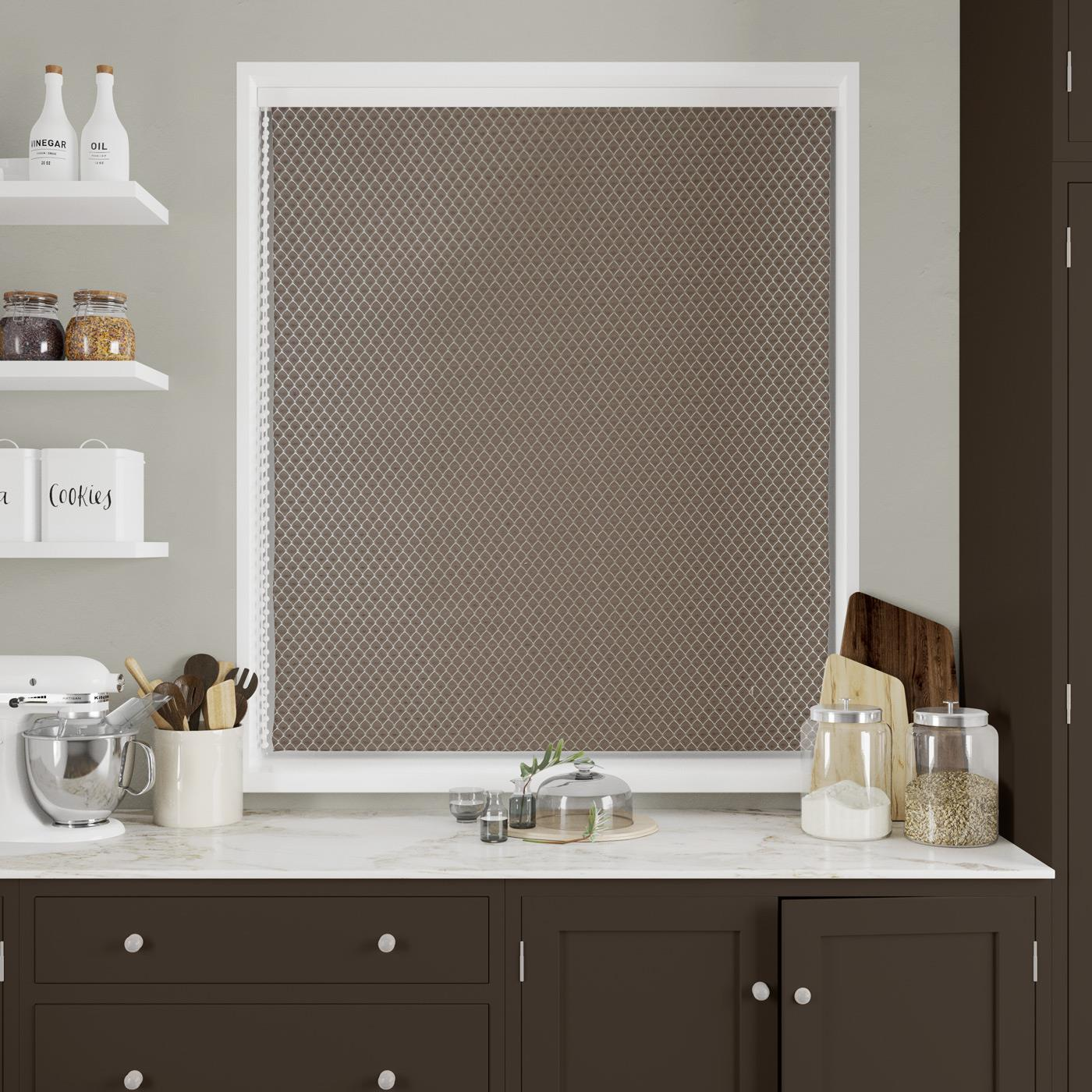 Shapinsay Chocolate Made to Measure Roman Blind -  - Ideal Textiles