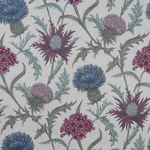 Acanthium Foxglove Made To Measure Roman Blind -  - Ideal Textiles