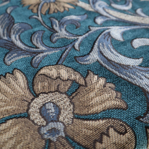 Chalfont Verdigris Made To Measure Curtains -  - Ideal Textiles