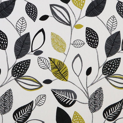 Forest Leaves Noir Made To Measure Curtains -  - Ideal Textiles