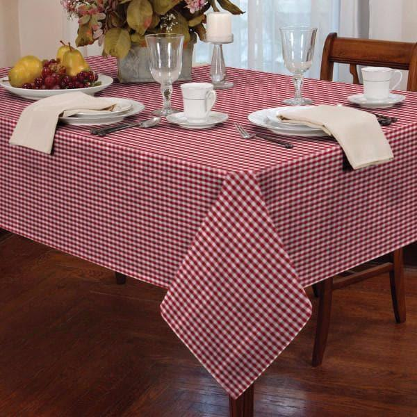 Gingham Check Tablecloths