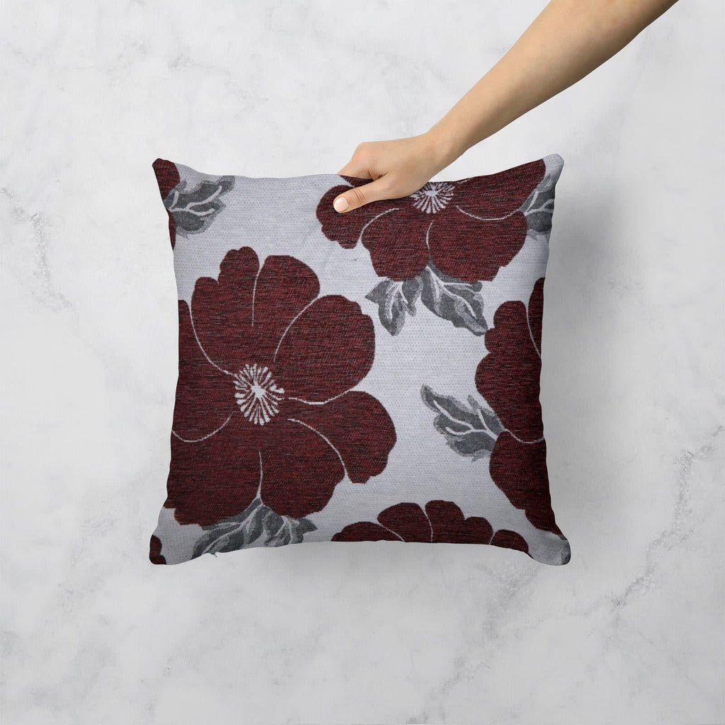 "Kira Floral Chenille Cushion Covers 18"" x 18"""
