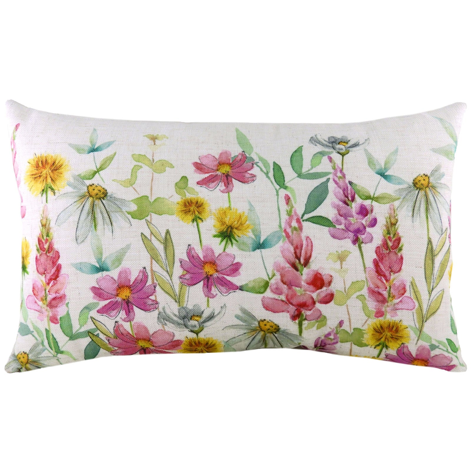 Wild Flowers Ava Multicolour Boudoir Cushion Covers 12'' x 20'' -  - Ideal Textiles