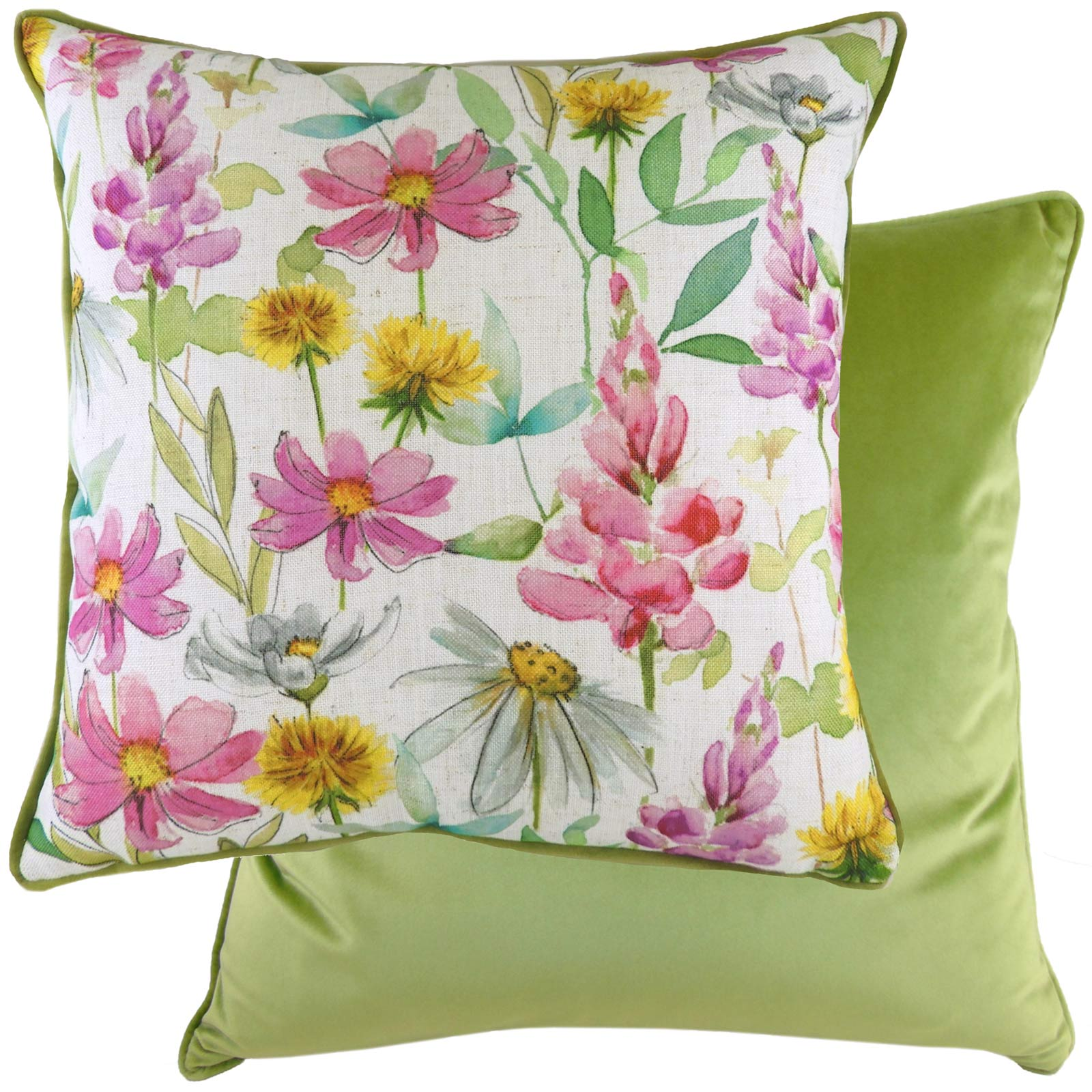 Wild Flowers Ava Floral Multicolour Cushion Covers 17'' x 17'' -  - Ideal Textiles