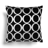 "Oh Chenille Black Cushion Covers 18"" x 18"" - Ideal Textiles"