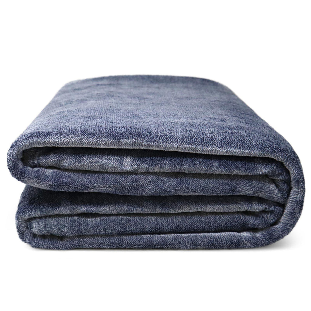 Marl Fleece Throw Blankets 130cm x 180cm - Ideal Textiles